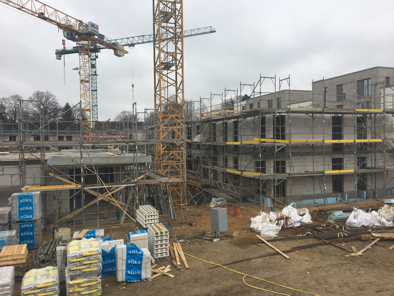 Baugrube des Baufelds H im Projekt Süderfeld Park