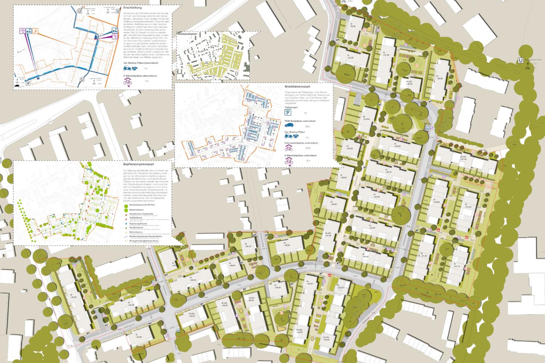 Bebauungskonzept Langenhorn Wulffsche Siedlung